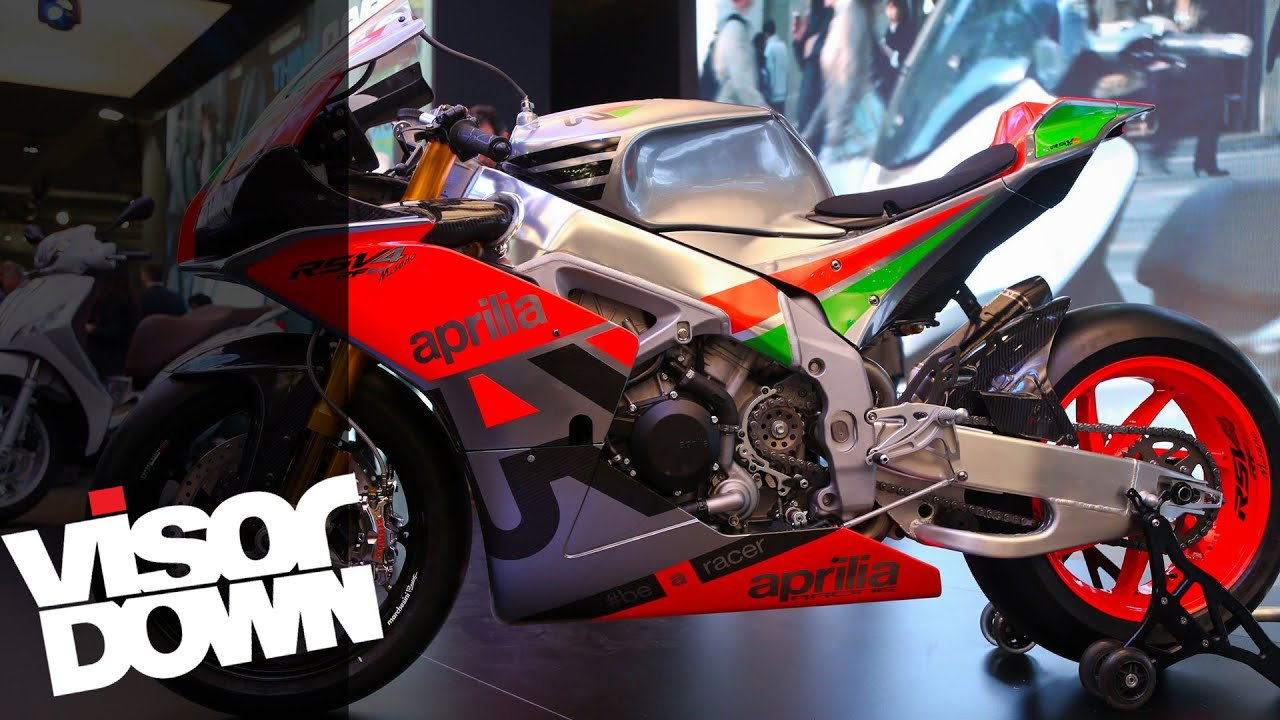 aprilia rsv4 r-fw misano walk-around at eicma 2015 | visordown