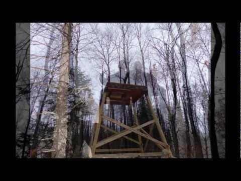 "Tower Deer Stand with ""Elevators"" brackets Slideshow"