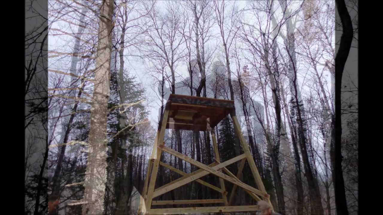 Tower Deer Stand With Quot Elevators Quot Brackets Slideshow Youtube