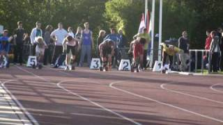 Kjell Wolters eerste 100 meter ever april 2009