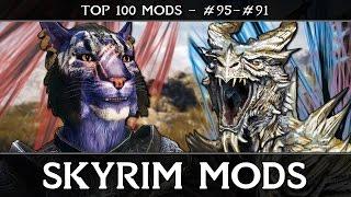 SKYRIM MODS - TOP 100: #95-91 - Big Blue Cat, Artifacts & Brows