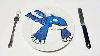 팬케이크 아트 전설의 포켓몬 가이오가 伝説のポケモン カイオーガ pancake art pocket monster legendary kyogre 36