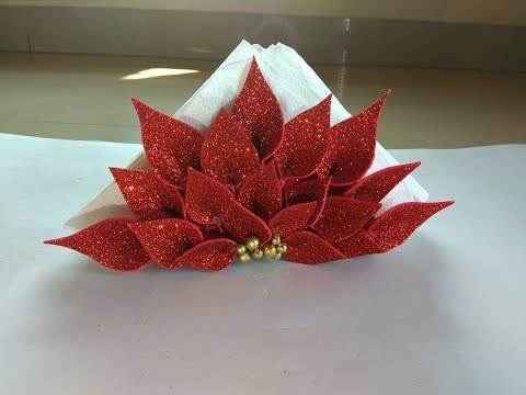 Napkin Organizer for Dining Table // DIY Tissue Paper Organizer // Foam Sheet Organizer for Napkin