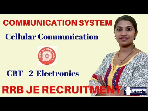 RRB JE Exam Classes In English | CELLULAR COMMUNICATION - COMMUNICATION SYSTEM|CBT 2