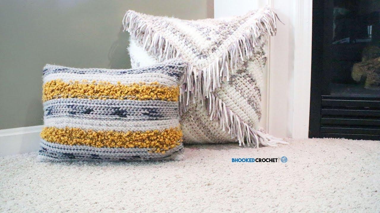 Bernat Mix Home Crochet Pillow Set Youtube