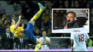 Stan Collymore comments Zlatan Ibrahimovic goal.