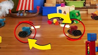 Roblox | WORLDS SMALLEST TANK BATTLE! (Red vs Blue Tiny Tanks)