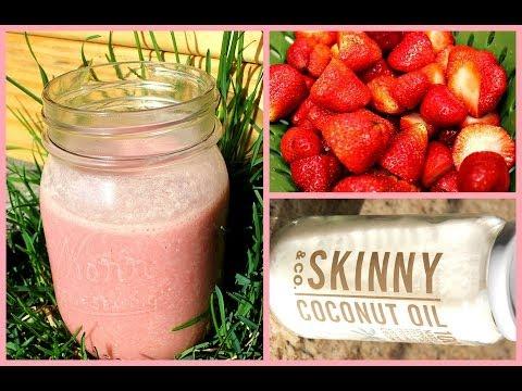 Healthy Breakfast Smoothie Recipe  Strawberry Oatmeal Smoothie w/ Coconut Oil без регистрации и смс