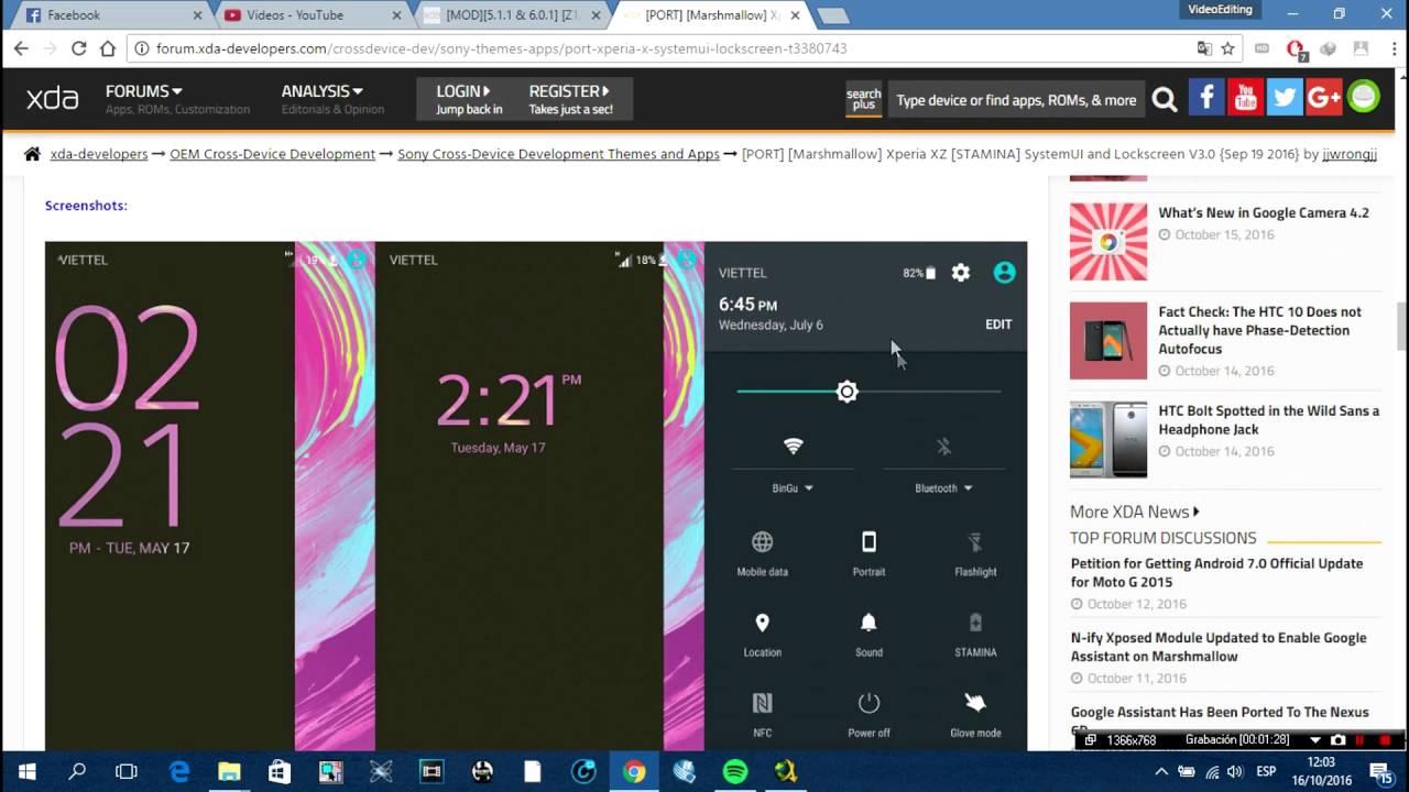 Sony Xperia - SystemUI and LockScreen (Xperia XZ) for (Z2,Z3,Z3C)