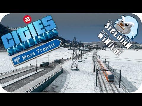 Cities Skylines Gameplay: DARKEST WASTELAND! Cities Skylines MASS TRANSIT DLC SIBERIAN SCENARIO #1