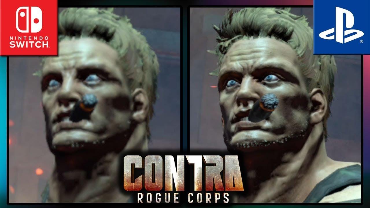 Contra: Rogue Corps | Switch VS PS4 | Graphics Comparison