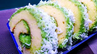 Bánh bông lan cuộn kem lá dứa -Pandan roll cake - Bánh mềm, thơm lá dứa của Bếp nhà Tin