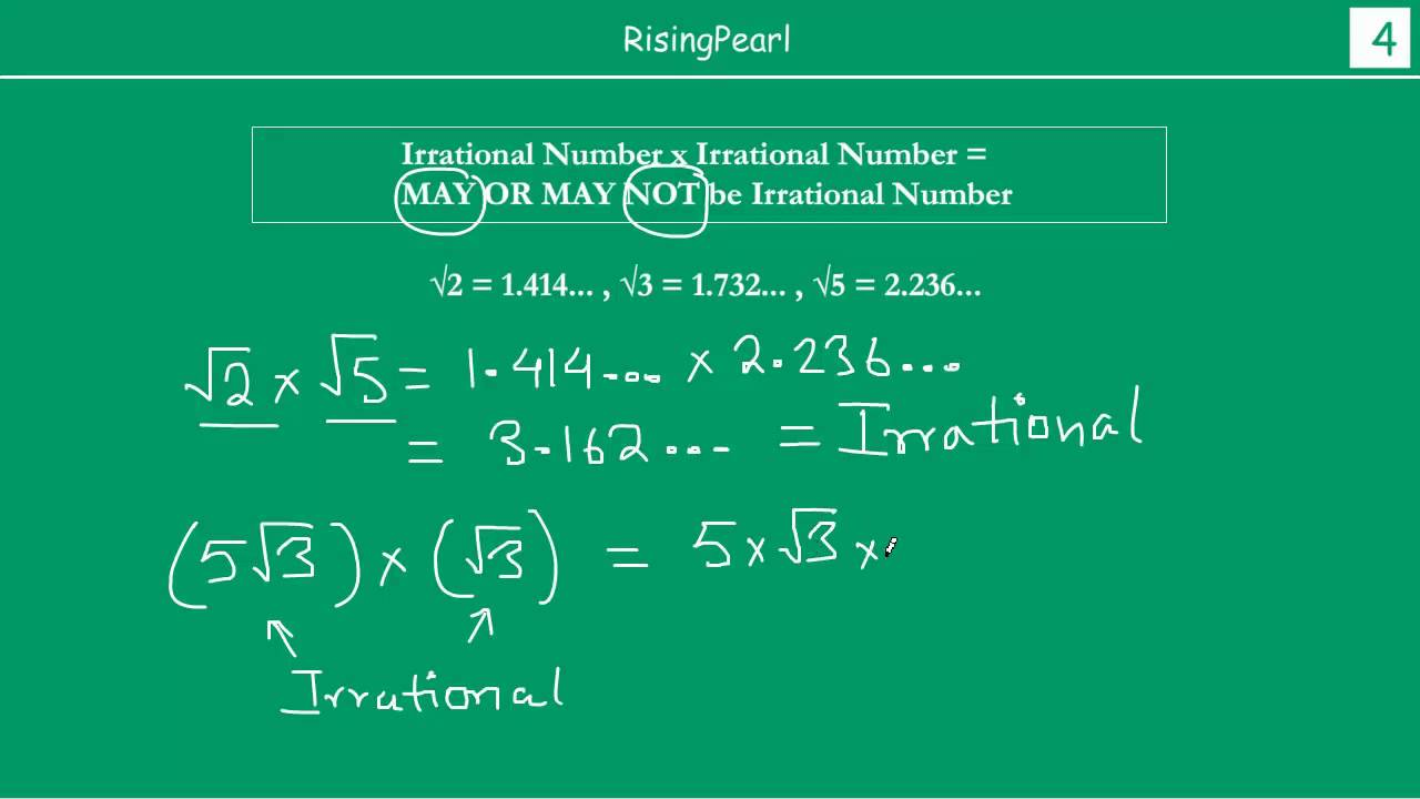Multiplying and Dividing two Irrational numbers (2 of 4) - YouTube