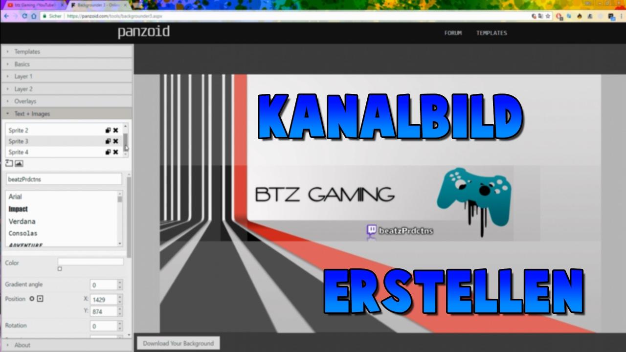 YouTube Kanalbild erstellen OHNE Programm  Tutorial FullHD German  YouTube