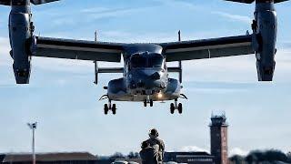 USAF Spec Ops CV-22 Practice Hover Maneuvers