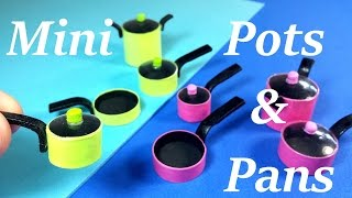 DIY Miniature Doll Pots u0026 Pans!