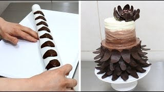 Easy Chocolate Decoration Cake 초콜릿 장식 케이크