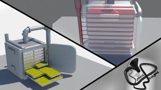 Vacuum Tray Dryer Oven Operation (Animation)