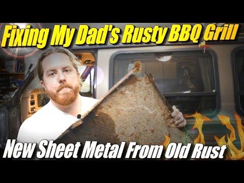 Fixing My Dad's Rusty BBQ Grill: Sheet Metal Work in Exchange for Steak Dinner