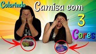 DESAFIO COLORINDO CAMISETA COM 3 CORES!! (3 COLOR TIE DYE CHALLENGE)