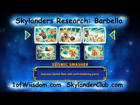 Skylanders Imaginators Research Barbella Seismic Smasher Upgrade Path