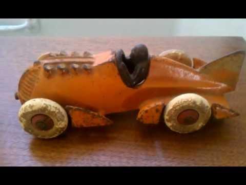 Hubley Cast Iron Rocket Car Toy 1877