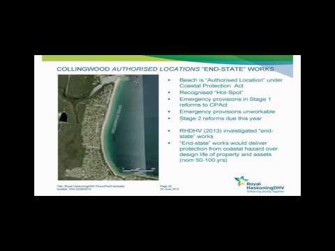 Collingwood Beach coastal erosion adaptive strategies – 27 June 2014'