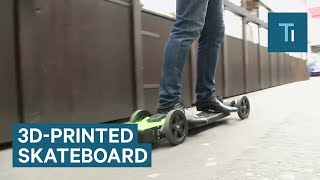 You can control this 3D-printed skateboard with a flick of your wrist