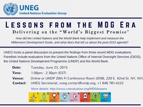 Lessons from the MDG Era (Webinar: June 23, 2015)