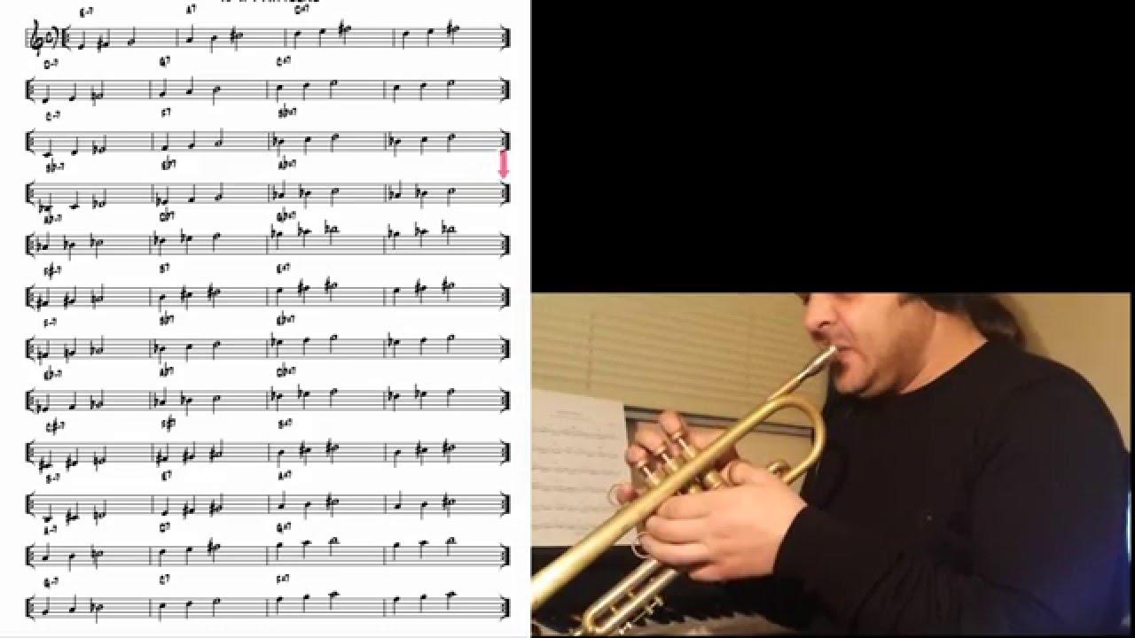 Jazz patterns (II V I - root) #1 Trumpet Trompeta Tromba
