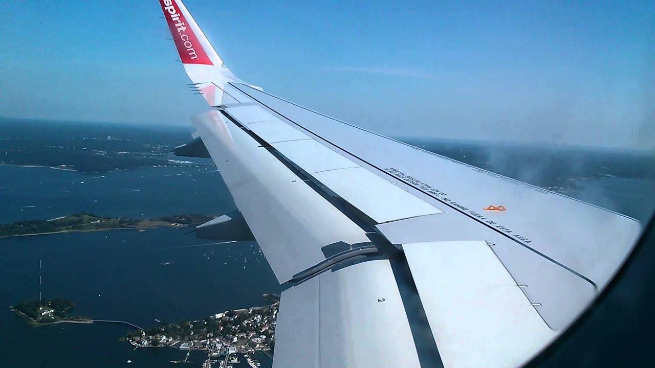 Spirit a320 sharklets landing new york laguardia klga for Spirit airlines new york