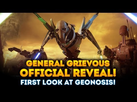 General Grievous OFFICIAL REVEAL! New Image & Geonosis FIRST LOOK! - Star Wars Battlefront 2