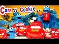 Disney Pixar Cars Lightning McQueen and Cookie Monster Count and Crunch Collection