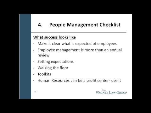A Checklist for the Ever Evolving Employer-Employee Relationship