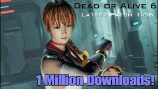 Dead or Alive 6 Core Fighters 1 Million Downloads & New Patch & Rewards!