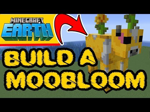 Minecraft Earth - Minecraft Moobloom - Moobloom Statue Build PS4, XBox, PC, Pocket Edition, Switch