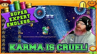 KARMA IS CRUEL! | Mario Maker 2 Super Expert No Skip Endless Challenge with Oshikorosu! [40]