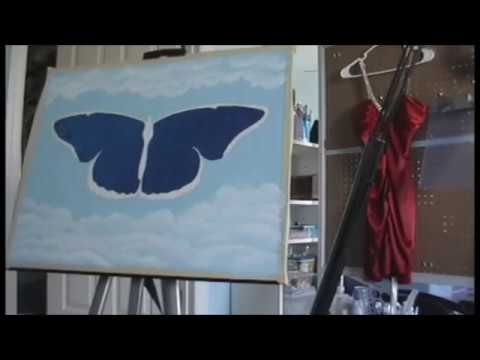 Northern Lights Butterfly Oil Painting Speed Painting Timelapse