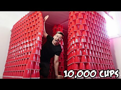 Thumbnail: DIY GIANT CUP FORT!! (10,000 CUPS)