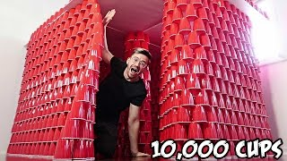 Repeat youtube video DIY GIANT CUP FORT!! (10,000 CUPS)