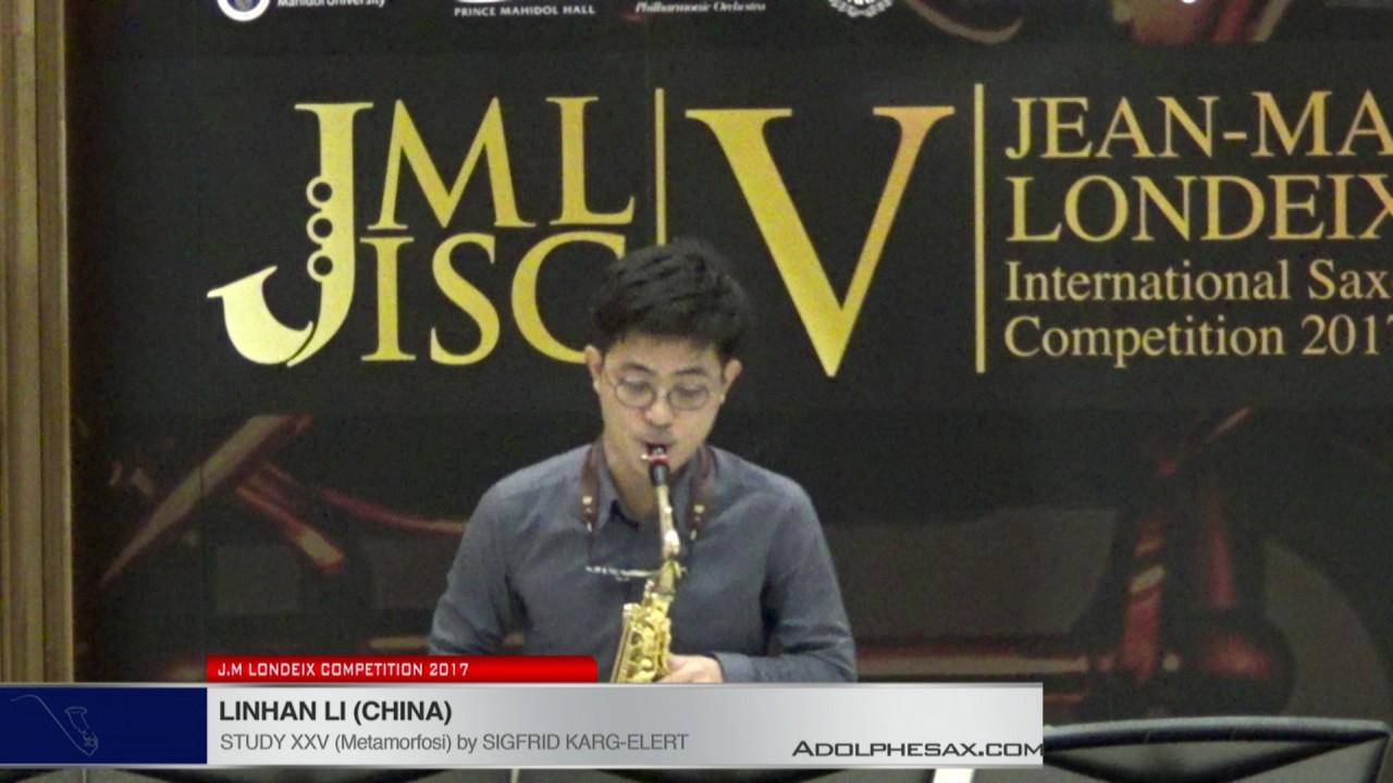 Londeix 2017 - Linhan Li (China) - XXV Metamorfosi by Sigfrid Karg Elert