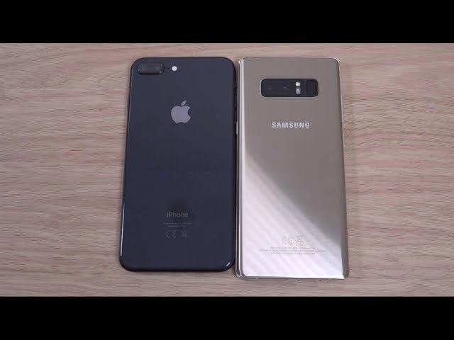 Apple iPhone 8 Plus and Samsung Galaxy Note 8 - Comparison
