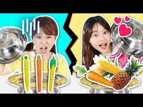 幸運挑戰之到底是真的食物呢還是筆呢?小伶玩具 | Xiaoling toys