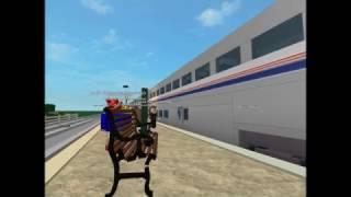 ROBLOX Amtrak Southwest Chief Train Ankunft am Bahnhof Haruka.
