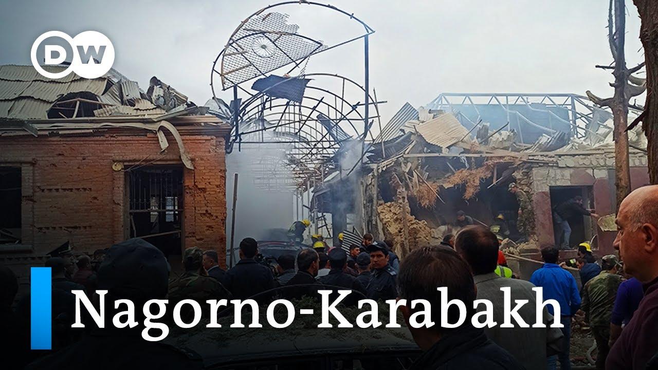 Download Nagorno-Karabakh: Azerbaijan accuses Armenia of attack on Ganja | DW News