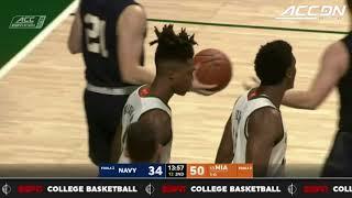 Navy vs. Miami Basketball Highlights (2017)