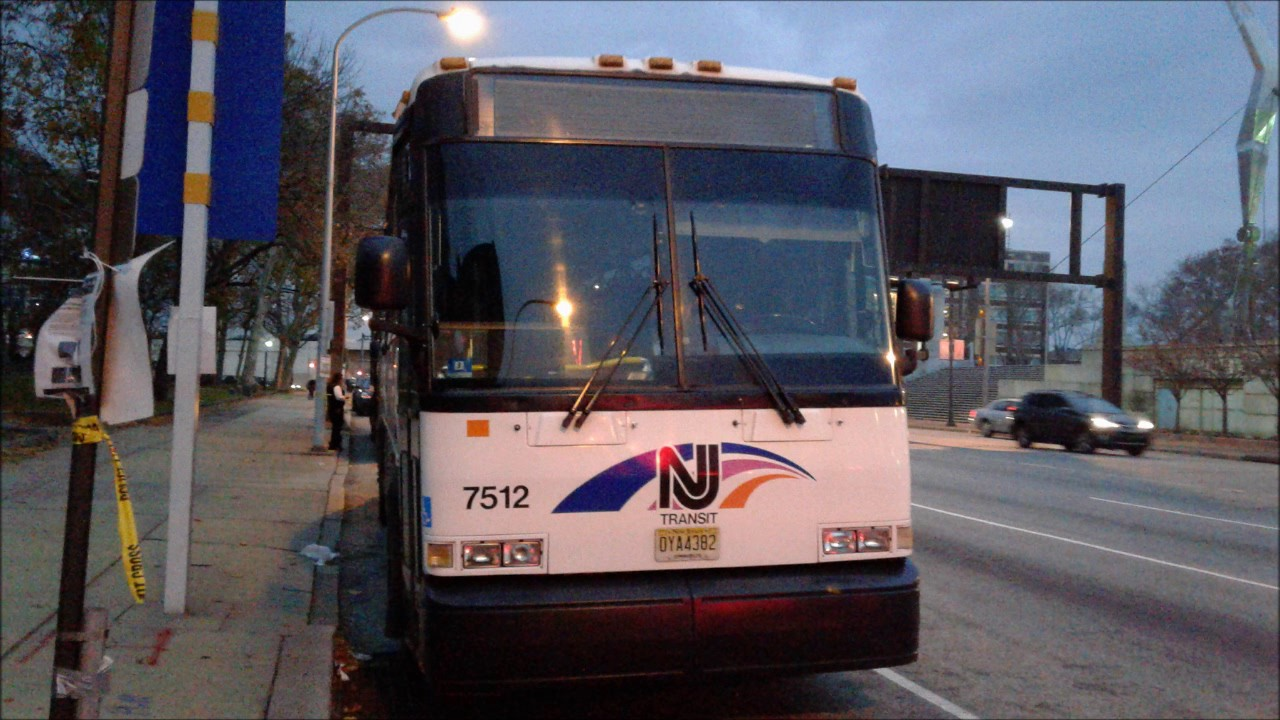 NJTransit Route 408: 2000-01 MCI D4000 #7512 Audio/video