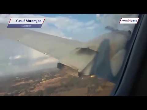 مهول شوف تصوير من داخل طائرة وقت سقوطها في أحد المطارات