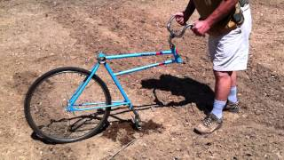 Repeat youtube video Bicycle Garden Plow home made