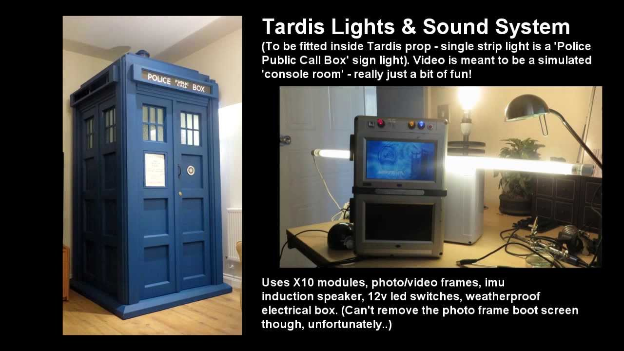 Tardis Police Box Full Size Prop Lights And Sound Project